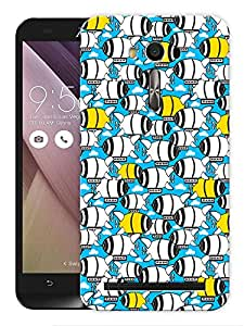 "Humor Gang Cute Submarine Printed Designer Mobile Back Cover For ""Asus Zenfone 2"" (3D, Matte, Premium Quality Snap On Case)"