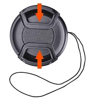 52mm Lens Hood and 52mm Center Pinch Lens Cap Kit Compatible with Nikon AF-S 18-55mm, 55-200mm f/4-5.6G ED VR II, 50mm f/1.8D, 35mm f/1.8G Camera Lenses. (Color: 52mm)