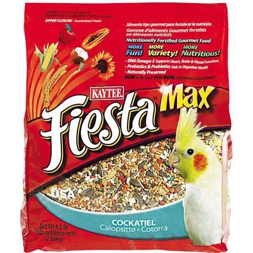 Image of Kaytee Fiesta Max Bird Food, Cockatiel, 4.5 lbs (B008KQ38O6)