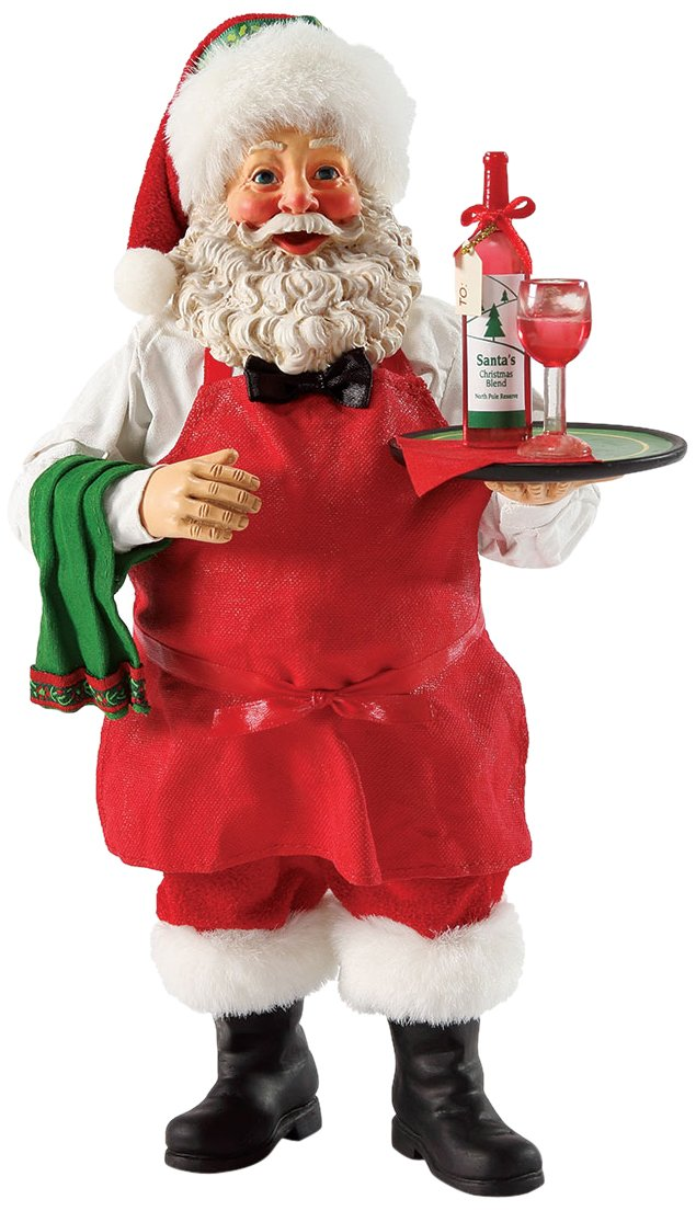 santa claus figure with wine