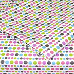 Amazon Com Multicolored Tiny Polka Dots Twin Single Bed