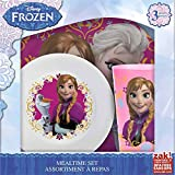 Zak! Designs 3-Piece meal time set with Elsa, Anna & Olaf from Frozen, Plate, Bowl & Tumbler, BPA-free