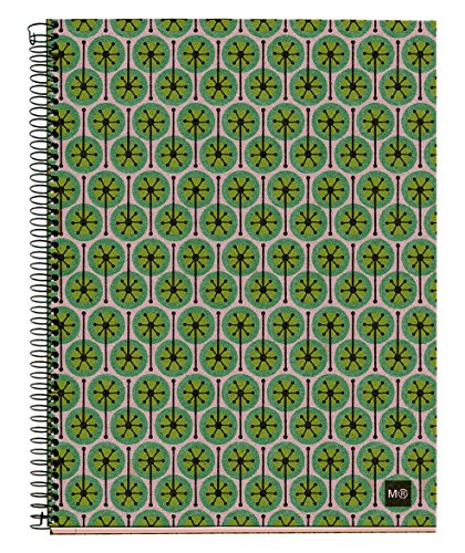 basicos-mr-2945-notebook-4-colours-a5-120-sheets-horizontal-ecopistils-recycled