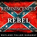 Reminiscences of a Rebel: The True Adventures of a Confederate Soldier (       UNABRIDGED) by Wayland Fuller Dunaway Narrated by Andrew Mulcare