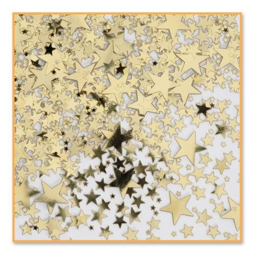 Beistle CN071 Gold Stars Confetti, 1/2-Ounce - 1