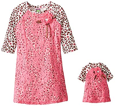 Dollie & Me Girls' Leopard and Lace Fashion Dress by Dollie & Me Girls 2-6x