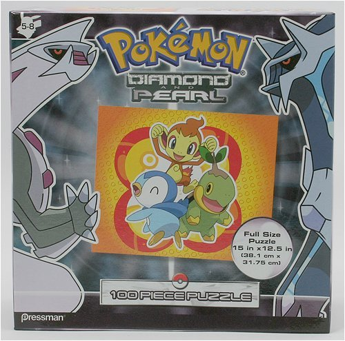 Pokemon Diamond & Pearl - Chimcha Piplup Turtwig Puzzle