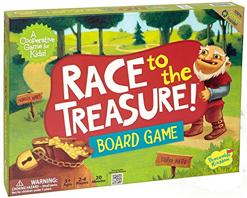 Peaceable Kingdom / Race To The Treasure! Award Winning Cooperative Board Game front-481645