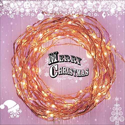 Fairy Star Lights™ Extra Long 39 ft Warm White LED Copper String Lights – Indoor / Outdoor All Weather – FREE Battery Power Adapter Included with DC 6V Wall Adapter! image