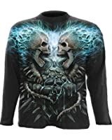 SPIRAL - T-Shirt Manches Longues Spiral DARK WEAR - Flaming Spine - Noir