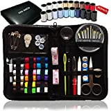 SEWING KIT, 38 Spools of Thread - FREE Extra 20 Most Useful Colors of Threads - Mini Travel sewing kit, Beginners Sewing Kit, Emergency sewing kit, Campers and home,over 80 Premium Sewing Supplies