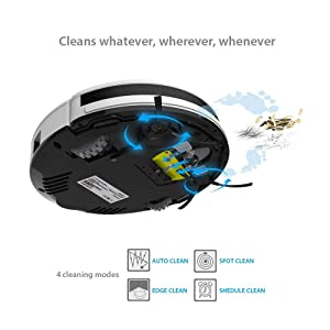 Daily Planning Auto Charge Good For Hard Floor and Low Pile Carpet ILIFE V3s Pro Robotic Vacuum Pet Hair Care Powerful Suction Tangle-free Renewed Slim Design