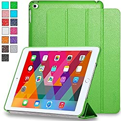 iPad Air 2 Case - INVELLOP [Premium] Leatherette Case Cover for iPad Air 2 (Will fit ONLY 2014 Apple iPad Air 2) (Gecko Green)