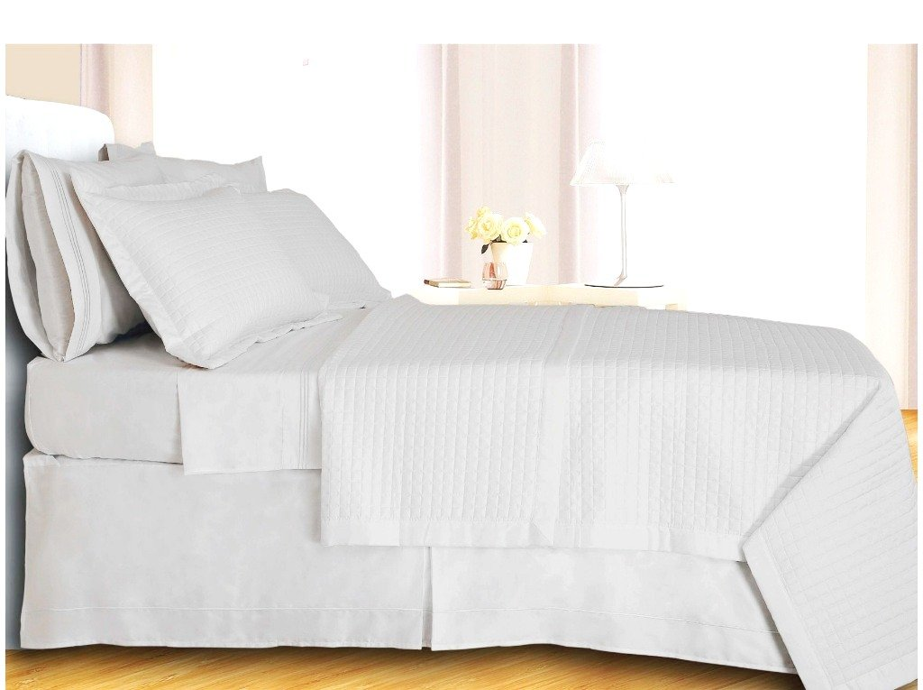 sheetsnthings King/Cal King Size 400 Thread count White Coverlet Set Including Matching Shams 100% Egyptian Cotton at Sears.com