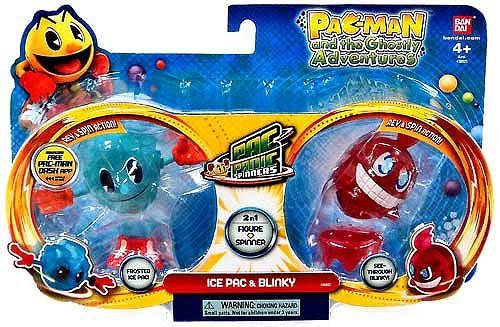 Pac-Man Pac-Panic Spinners, Ice Pac and Blinky
