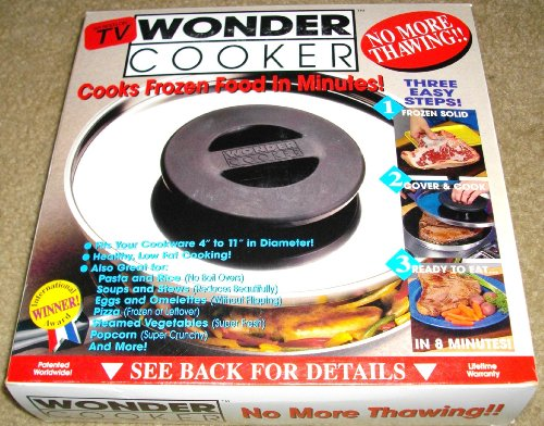 Wonder Cooker Miracle Lid No More Thawing Cooks Frozen Food in Minutes