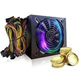Power Supply New 2000W ATX Gold Mining Power Supply SATA IDE 8 GPU for ETH BTC Ethereum, Suitable for ore machines and servers (Black) (Color: Black, Tamaño: 6.5x5.9x3.34 inch)