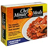 Chef 5 Minute Meals Vegetable Lasagna (Pack of 6)