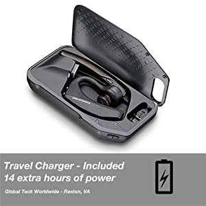 4050ea7e60c Plantronics Voyager 5200-UC Bluetooth Headset Bundle w/Bonus Wall Charger # 206110-01-B | For ...