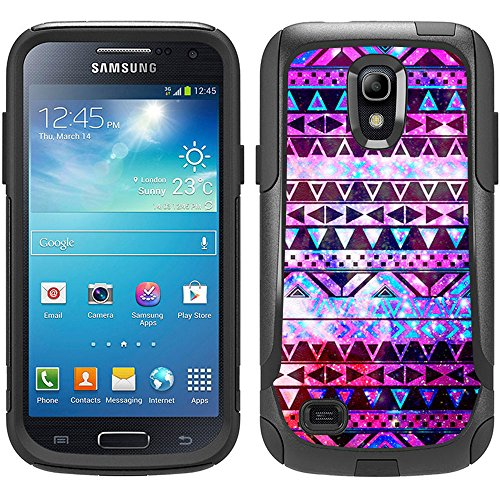 Skin Decal for Otterbox Commuter Samsung Galaxy S4 Mini Case - Nebula Black Aztec Galaxy Design (Samsung Galaxy S4 Mini Decal compare prices)