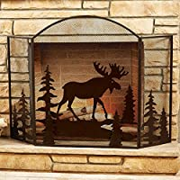 Moose Fireplace Screen