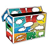 (1) BCW Art POW! Short Comic Storage Box - Holds 150-175 Comics - BCW-BX-SHORT-ART-POW (Tamaño: 1-Pack)