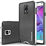 Galaxy Note 4 Case, Caseology [Bumper Frame] Samsung Galaxy Note 4 Case [Metallic Mesh Silver] Slim Fit Skin Cover [Shock Absorbent] TPU Bumper Galaxy Note 4 Case [Made in Korea] (for Samsung Galaxy Note 4 AT&T Sprint, T-mobile, Unlocked)