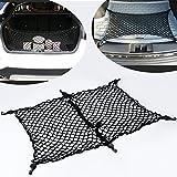 9 Moon® Floor/Envelope Style 6 Hook Car Trunk Rear Cargo Net for Audi A3 A4 A5 A6 Q5 Q7 R8 S4 S5