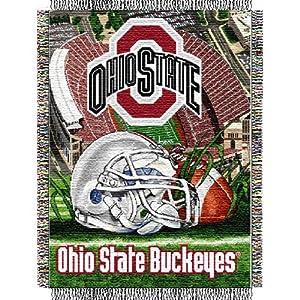 NCAA Ohio State Buckeyes Woven Throw Blanket by Northwest