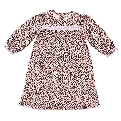 Little Me Pink Leopard Heart Nightgown for Little girls 2T
