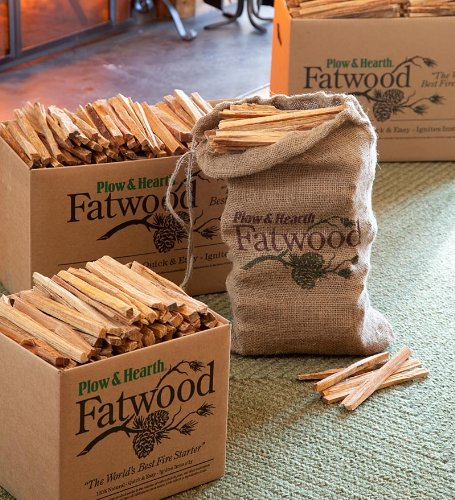 Learn More About Plow and Hearth Resin-Rich, Easy-Start 25 lb. Box of Fatwood