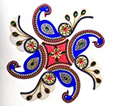 Hand Made Designer Rangoli On Acrylic No.18 Size 13.5 x 13.5 Inch Best Seller