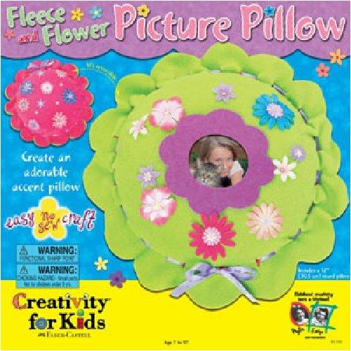 Creativity For Kids Fleece & Flower Picture Pillow front-714984