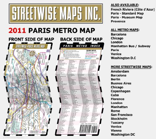Streetwise Paris Metro Metro Map Paris, France ...