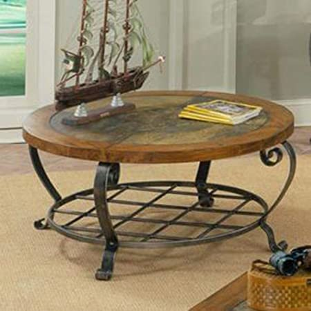 Riverside Furniture Riverside Harmony Round Coffee Table in Antique Oak Stain