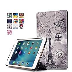 ProElite Designer Smart Flip Case cover for Apple iPad Mini 4 (Design-Eiffel) [ Will FIT only mini 4]