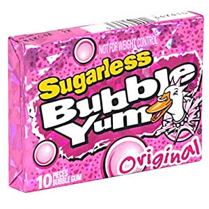 Bubble Yum Sugarless Gum, Original, 10-Piece Packages (Pack of 12)