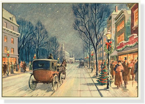 Vintage Carriage Ride Deluxe Boxed Holiday Cards (Christmas Cards, Holiday Cards, Greeting Cards)