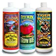 FoxFarm FX14050 Big Bloom, Grow Big & Tiger Bloom Liquid Fertilizer Nutrient Trio Hydro-Formula, 3/32-Ounce Bottles