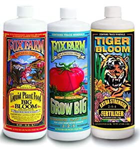 Amazon.com : FoxFarm FX14050 Big Bloom, Grow Big & Tiger Bloom Liquid