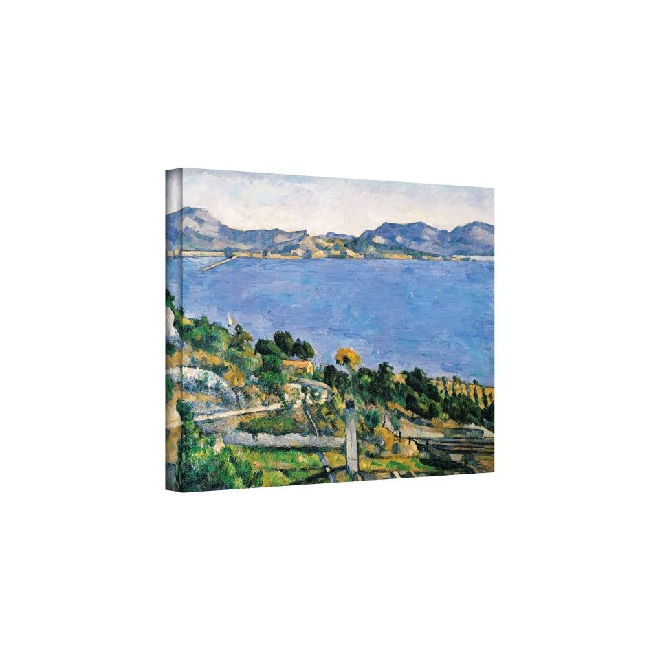 Art Wall LEstaque of The Bay of Marseilles Gallery Wrapped Canvas Artwork by Paul Cezanne, 14 by 18 Inch