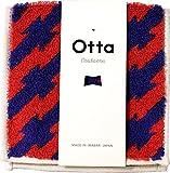 Otta 今治のハーフタオルハンカチ ストライプ レッド