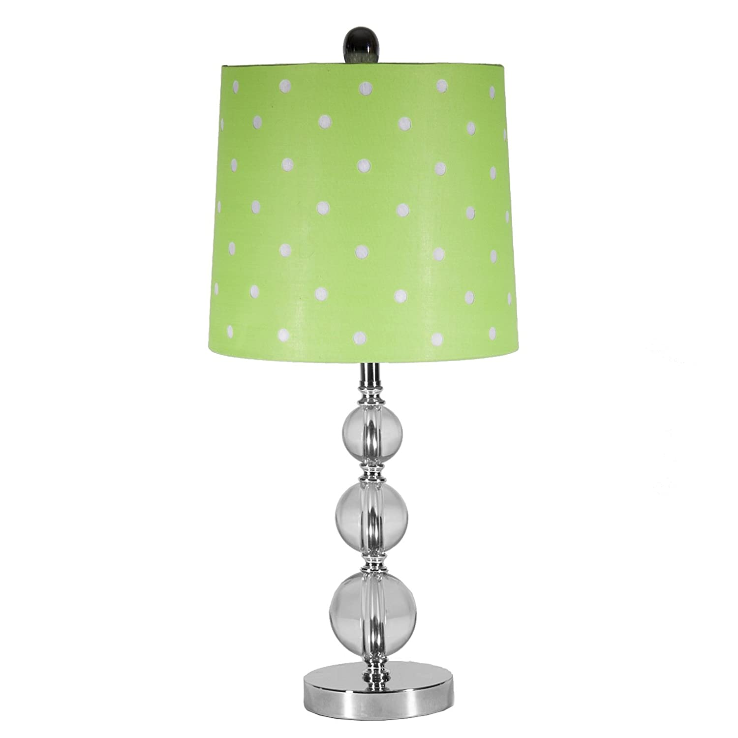 Bright Green Lamp Shade : Use a lime green lamp shade to spice up your room