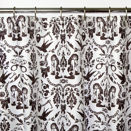 Sin in Linen Ravens Dream Shower Curtain
