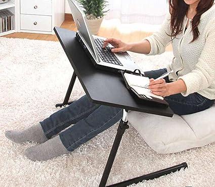 BBSLT Tavolo per PC portatile semplice collegio studente per letto, rotazione sollevamento scrivania, tavolo pieghevole facile