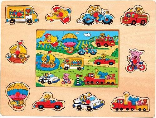 Picture of Fun Vehicles - Peg & Jigsaw Wooden Puzzle (B002P8VE8C) (Pegged Puzzles)