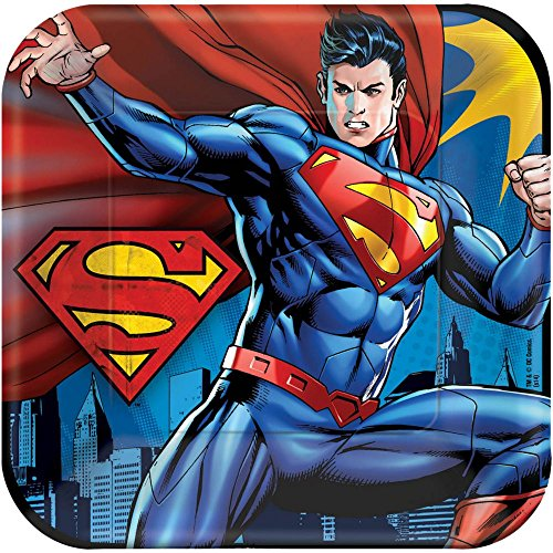 "Superman 9"" Dinner Plates 8 Count"