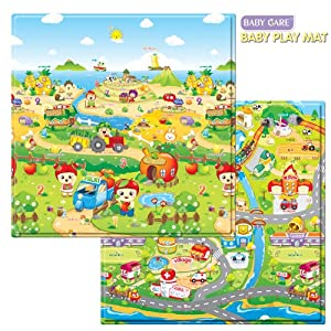Baby Care Play Mat - Fruits Farm (Small)