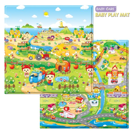 baby care play mat fruits farm small on PopScreen