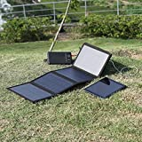 (Fascinating combination) Levin™ 20W High Powered Foldable Laptop Solar Panel Charger with 16000 mAh Multi-Voltage (5V / 8.4V / 9V / 12V / 16V / 19V / 21V) Laptop External Battery Pack Charger for Notebooks and Apple devices(iPhone, iPad and other Apple devices are all included), Samsung ,Windows Phones and All Other Android Devices. (Black)